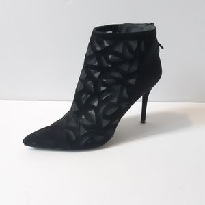 Stuart Weitzman Ankle Boots Black With Mesh